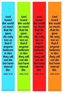Free printable Bible Bookmarks for kids