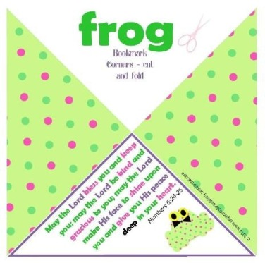 frog corner bookmarks a frog in a sleeping bag or just a froggy 2054