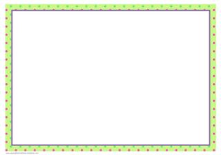 Sample frame with border