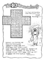 Moses-10 commandments word search; free printable