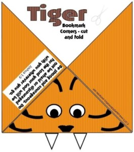 Tiger Bookmark Corner2