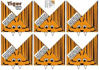 Tiger Bookmark Corners1 A4