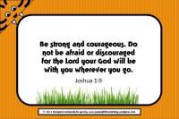 tiger Bible verse frame 4x6