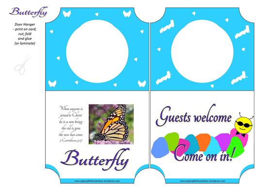 Butterfly Door Hanger A4