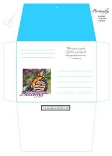 Butterfly Stationery Set-Envelope