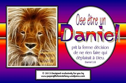 FRENCH Daniel Verse Card 4x6 - SAMPLE
