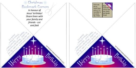 Christmas Bookmark Corners -SAMPLE