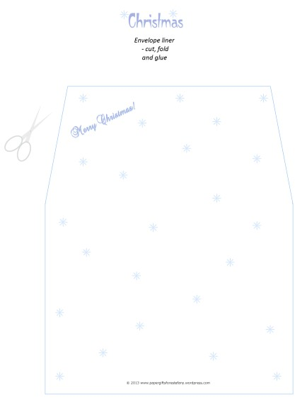 Christmas Stationery Set-Env Liner A4