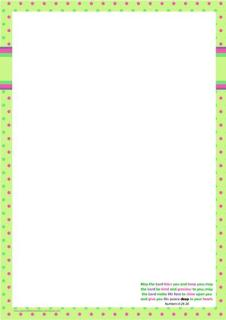 Frog Stationery for kids with Bible verse A4
