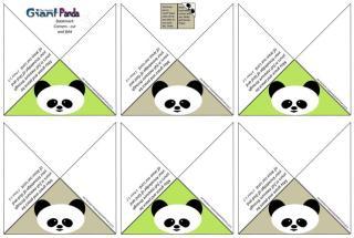 Panda Bookmark Corners