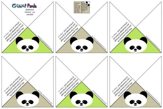 Panda Bookmark Corners