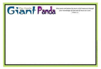 Panda Coloring Frame A4
