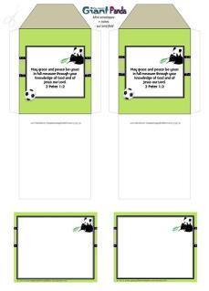 Panda mini envelopes + notes A4