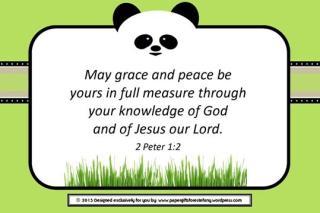 Panda Bible Verse Card 4x6