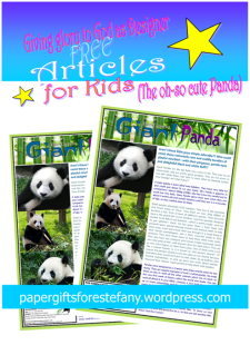 Panda article for kids giving glory to God as designer; free printable