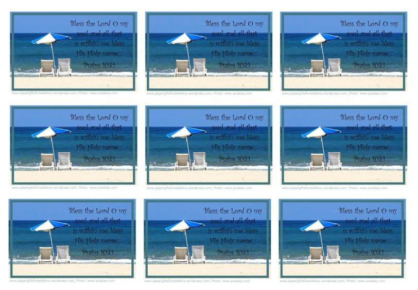 Tutorial-beach wallet cards-sample