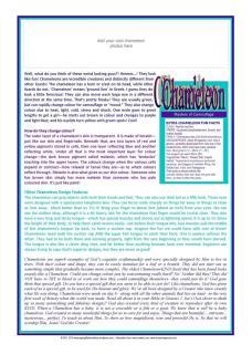 Chameleon Article for kids A4