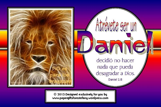 SPANISH Daniel Verse Card SAMPLE