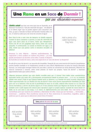 SPANISH Frog Article A4