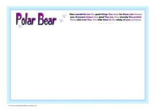 Polar Bear Coloring Frame - SAMPLE