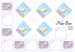 Polar Bear Mini Envelopes + Notes - SAMPLE