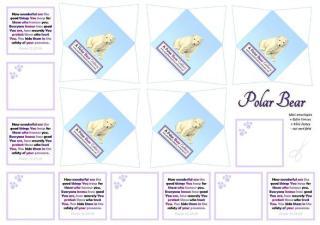 Polar Bear Mini Envelopes + Notes - SAMPLE