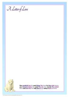 Polar Bear Stationery for kids