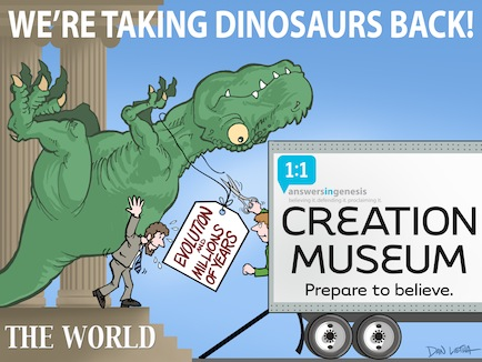 Creation Museum - Taking back the dinosaurs