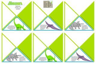 Dinosaur Bookmark Corners A4