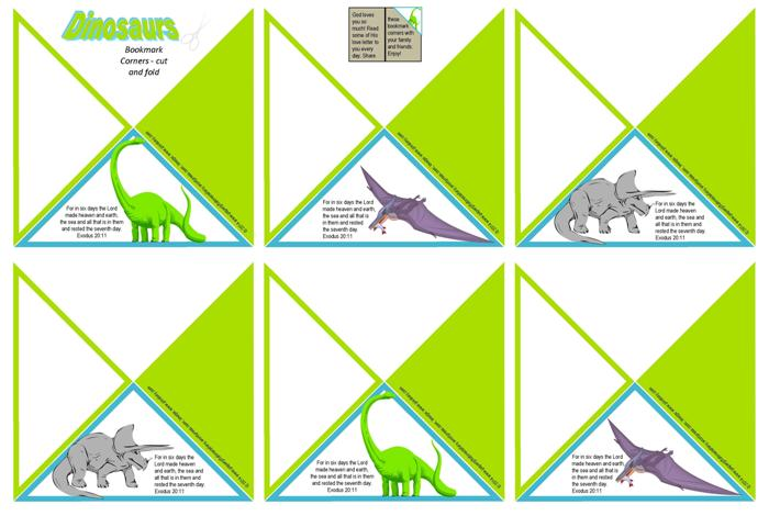 Dinosaur Freebies Paper Gifts