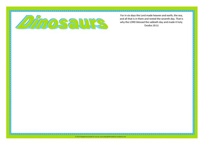 Dinosaur Frame to jazz up your coloring pages A4