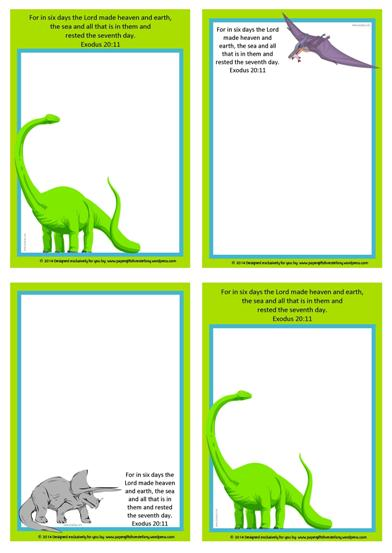 Dinosaur Free Printable Notepaper for Kids