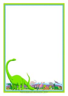 Dinosaur Free Printable Stationery for Kids A4