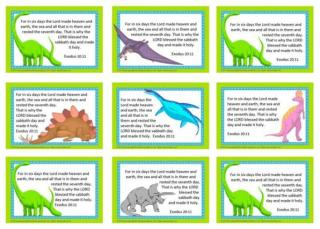 Dinosaur Bible Verse Wallet Cards for Kids