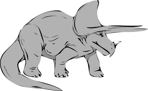 dinosaur-grey triceratops