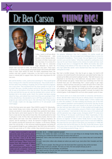 Dr Ben Carson free printable article for Kids