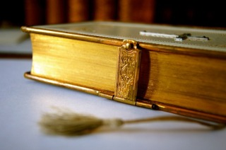 ornate bible with clasp