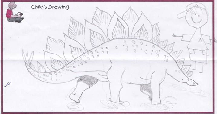 Rawulatu dinosaur drawing 2014