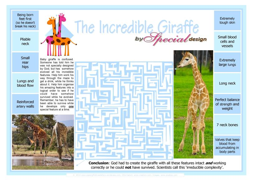 Giraffe free printable maze for kids