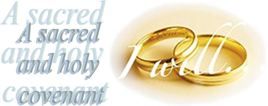 Marriage-A sacred and holy covenant