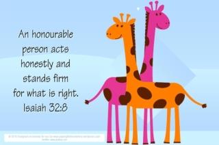Giraffe Free Printable Bible Verse Card 4x6