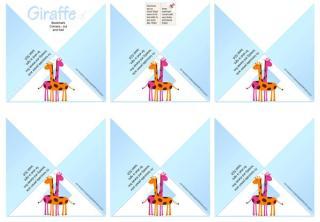 Giraffe Free Printable Bookmark Corners for Kids A4