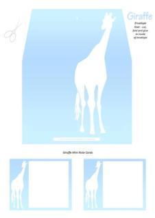Giraffe Free Printable Envelope Liner A4
