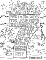 Scripture Doodle Exodus 20