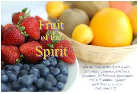 Galatians 5:22-23 Fruit of the Spirit Bible Poster