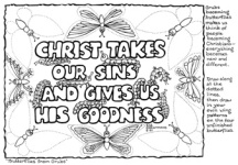 1 Thessalonians 5.10 Christ takes our sins and gives us His goodness
