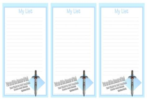 Armour of God free printable to do list for kids