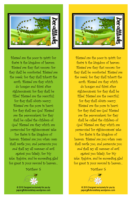 Beatitudes free printable bookmarks with Bible verse for kids - yellow / green
