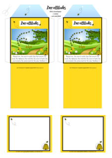 Beatitudes free printable mini envelopes and note cards with Bible verse for kids