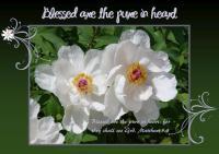 Free printable Bible verse Beatitude poster featuring Matthew 5:8